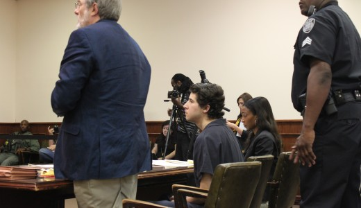 Charlie Pittman, a former senior Christian ministries major, appears in City Court July 10 for his preliminary hearing.
