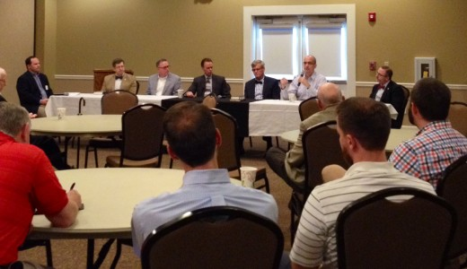 George Guthrie addresses the West Tennessee Pastors Conference during the panel discussion.